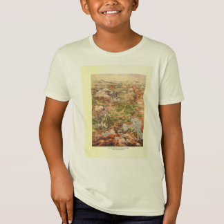 1910 Aerial View Map - Yellowstone National Park T-Shirt
