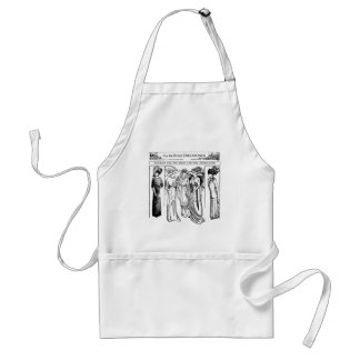 1910 Bride and Attendants Gowns Apron