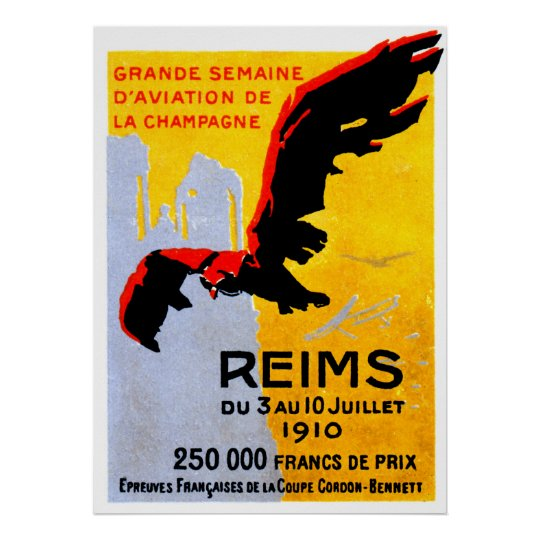 1910 Reims Air Show Poster