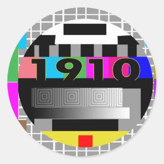 1910 ROUND STICKERS