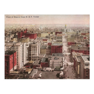 1910's View of Denver, CO from The D & F Tower Post Cards