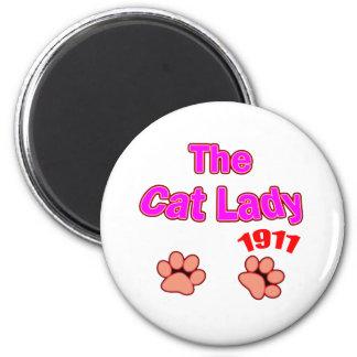 1911 cat lady magnet