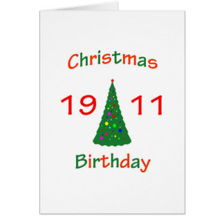1911 Christmas Birthday Greeting Card