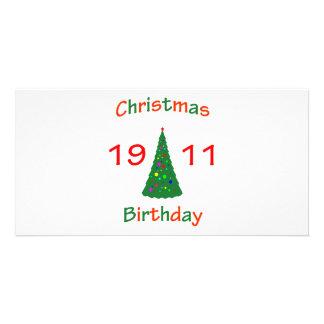 1911 Christmas Birthday Photo Card