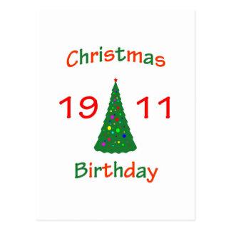 1911 Christmas Birthday Postcard