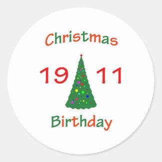 1911 Christmas Birthday Sticker