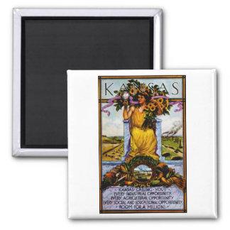 1911 Kansas Poster Square Magnet