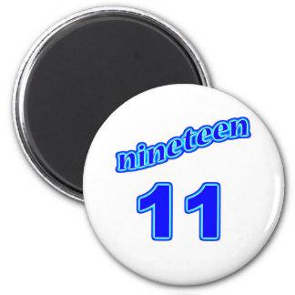 1911 Nineteen 11 Refrigerator Magnet