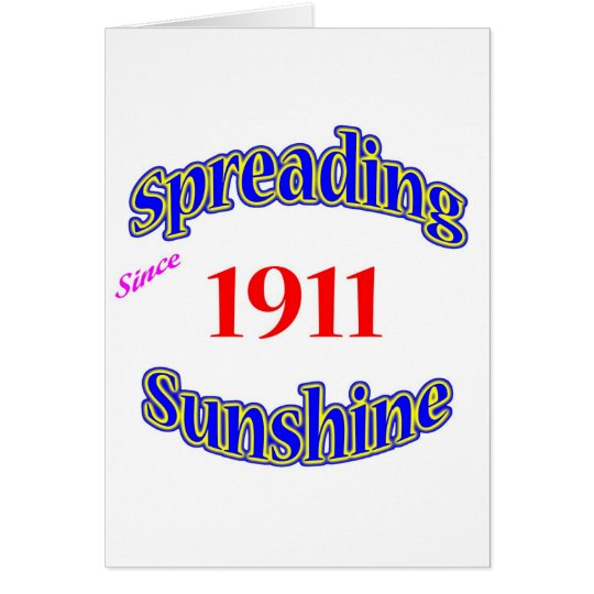 1911 Spreading Sunshine Card