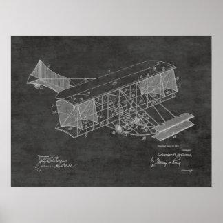 1911 Vintage Airplane Patent Art Drawing Print