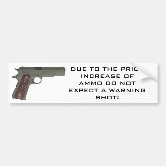 1911 Warning Shot Bumper Sticker