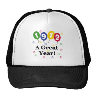 1912 A Great Year Birthday Mesh Hats