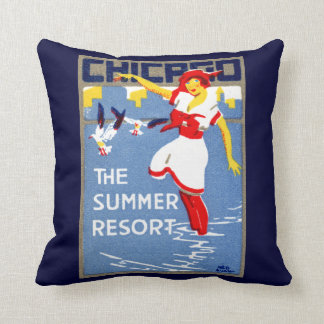 1912 Chicago, The Summer Resort Cushion