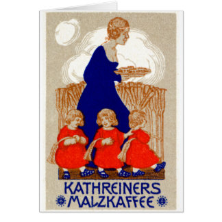 1912 Coffee Poster Greeting Card
