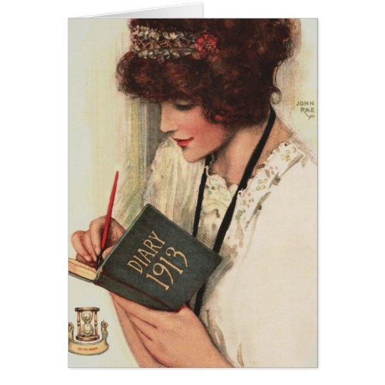 """1912! DEAR DIARY """"I'VE NEVER A BETTER FRIEND"""" CARD"""