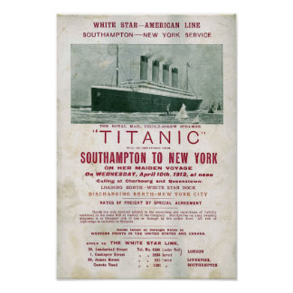 1912 TITANIC call for freight Poster
