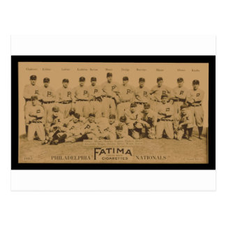 1913 Philadelphia Phillies Fatima Tobacco Card Postcards