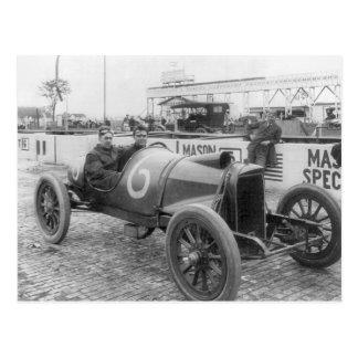 1913 Race Car Postcard