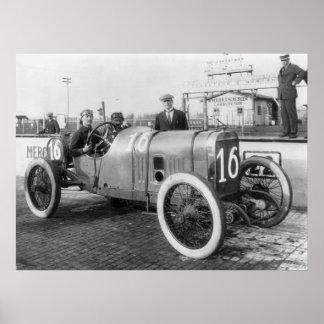 1913 Race Car Poster