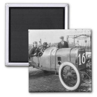 1913 Race Car Square Magnet