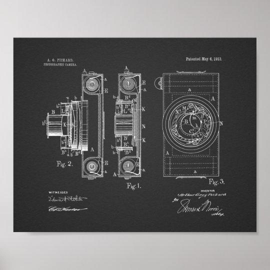 1913 Vintage Camera Patent Art Drawing Print