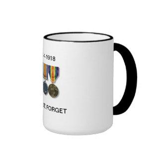 1914-1918 Lest We Forget Ringer Mug