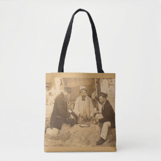 1914 fun on the beach in Germany RPPC Tote Bag