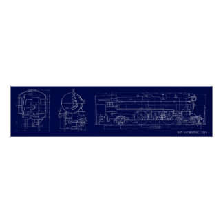 1914 K4S Blueprint Drawing Posters