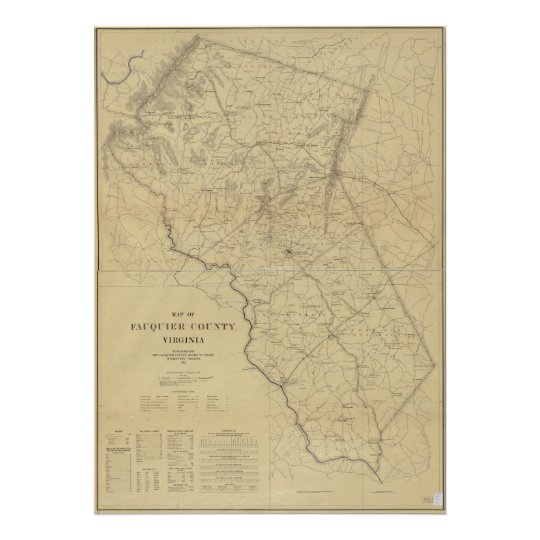 1914 Map of Fauquier County, Virginia Poster