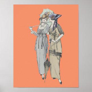 1914 vintage fashion girls poster
