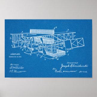 1915 Airship Airplane Patent Art Drawing Print