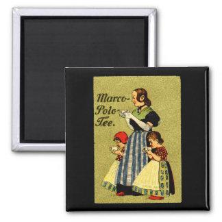 1915 Enjoy Marco Polo Tea Square Magnet
