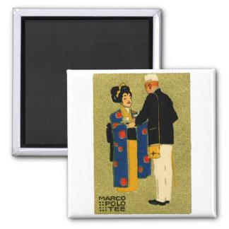 1915 Marco Polo Tea Square Magnet