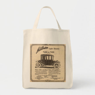 1915 Milburn Electric auto vintage ad Grocery Tote Bag