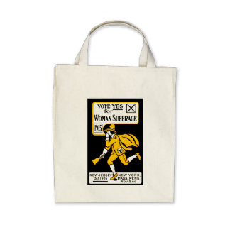 1915 Yes! Womens Suffrage Poster Tote Bags