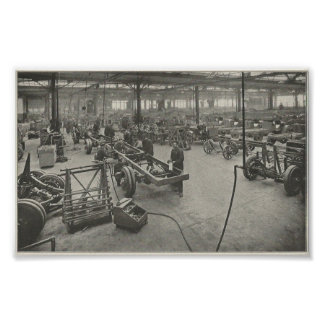 1916 Auto Manufacturing Facility Poster