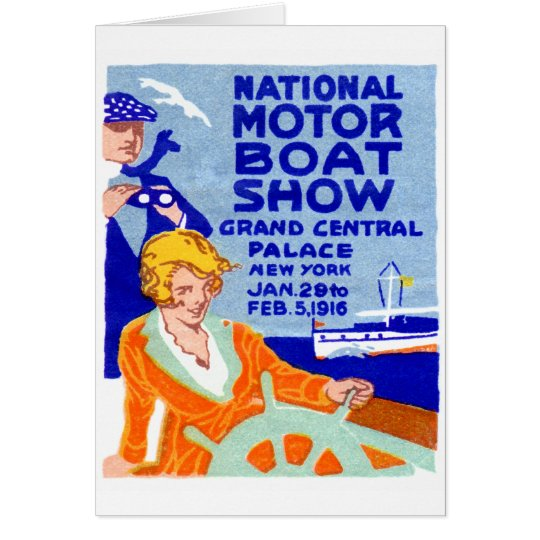 1916 Boat Show Poster Card