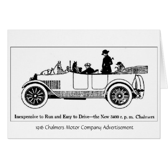 1916 Chalmers Motor Co., Greeting Card