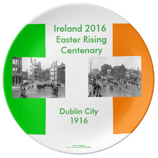 1916 Irish image for Decorative-Porcelain-Plate Plate