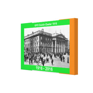 1916 Irish image for wrapped-canvas Canvas Print