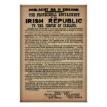 "1916 Irish Proclamation (Original Copy 19""x13"") Poster"