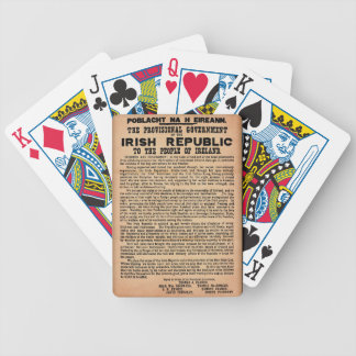1916 Proclamation of Ireland Bicycle Playing Cards