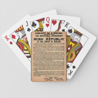 1916 Proclamation of Ireland Playing Cards