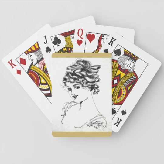 1917 Art Nouveau Playing Cards! Poker Deck