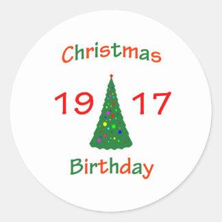 1917 Christmas Birthday Stickers