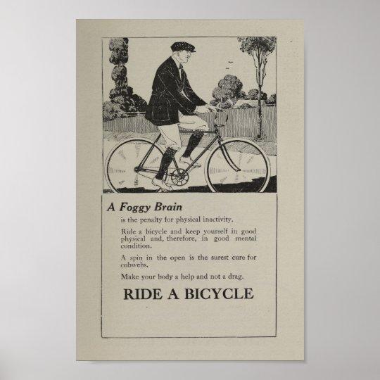 1917 Vintage Bicycle Marketing Ad Art Poster