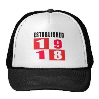 1918 Birthday Designs Mesh Hat