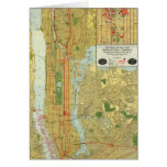 1918 New York Central Railroad Map Greeting Card