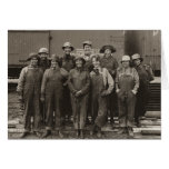 1918 Women Laborers Union Pacific Railroad Greeting Cards
