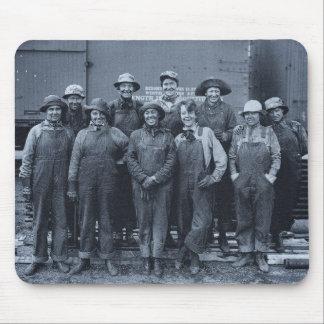1918 Women Laborers Union Pacific Railroad Mouse Mat